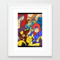 x men Framed Art Prints featuring X-Men by Demonology7789