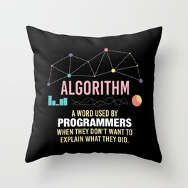 Algorithm Definition - Funny Programming Definition Throw Pillow