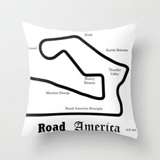 RennSport Shrine Series: Road America edition Throw Pillow
