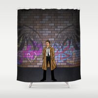 castiel Shower Curtains featuring CASTIEL by Chris Thompson, ThompsonArts.com