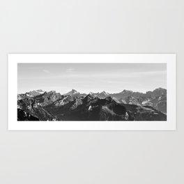 Mountain Range Art Print