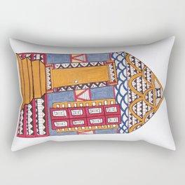 Funky NOLA Shotgun Print Rectangular Pillow
