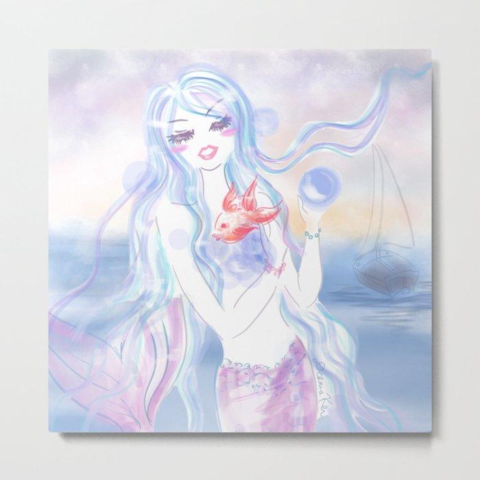 Mermaid at dusk Metal Print