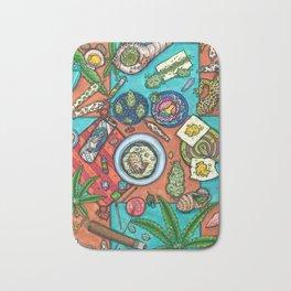 Ocean Grown : Cannabis Altar III Bath Mat