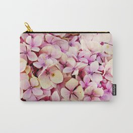Pastel pink lilac botanical hydrangea floral Carry-All Pouch