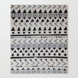 Gray Lines Canvas Print
