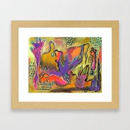 Playful Shapes & Colors Framed Art Print