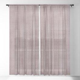 Pantone Red Pear Dry Brush Strokes Texture Pattern Sheer Curtain