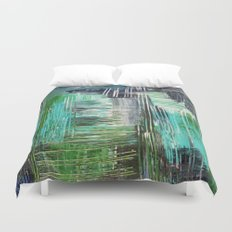 AQUATIC COMMOTION in Color - Textural Ocean Beach Nautical Abstract Acrylic Painting Wow Winter Xmas Duvet Cover