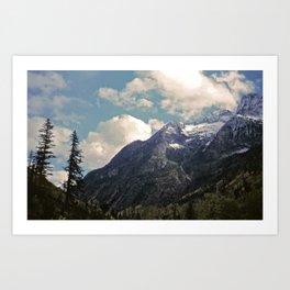 Pikes Peak Digital Painting Art Print