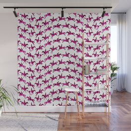 Showjumping Horse Sequence (Magenta) Wall Mural