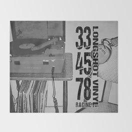 33/45/78 (Black) Throw Blanket