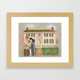 Joseph and Emma Smith White Mansion House Framed Art Print