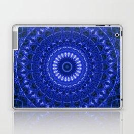 Dark blue mandala Laptop & iPad Skin