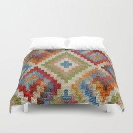 kilim rug pattern Duvet Cover