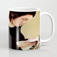 tegan and sara Mugs featuring Tegan and Sara by Mr. Frogo
