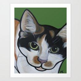 Callie the Calico Art Print