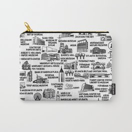 Atlanta Map  Carry-All Pouch