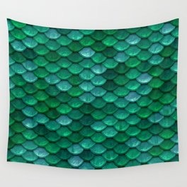 Green Penny Scales Wall Tapestry
