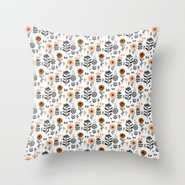 Cute small flowers pattern Throw Pillow