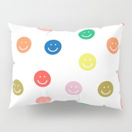 Smiley faces happy simple rainbow colors pattern smile face kids nursery boys girls decor Pillow Sham