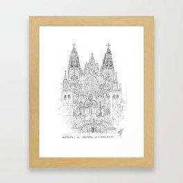 Cathedral of Santiago De Compostela Framed Art Print