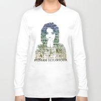 bjork Long Sleeve T-shirts featuring Bjork Human Behaviour  by b_ethany