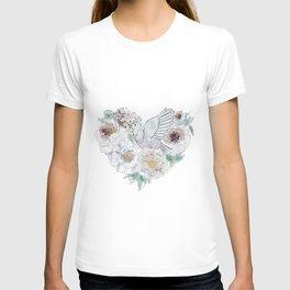 bird of paradise 3 , paradisebirds , simple floral graphic design , gift for gardener T-shirt