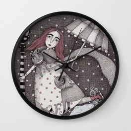 Alice's First Snow Wall Clock