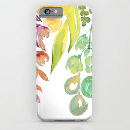 "Colorful ombre watercolor bouquet, ""Lindsay"" iPhone Case"