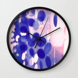 GLAM CIRCLES #Soft Pink/Blue #1 Wall Clock