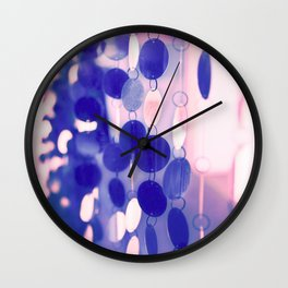 GLAM CIRCLES #Soft Pink/Blue #1 Wall Clock
