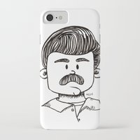 ron swanson iPhone & iPod Cases featuring Ron Swanson by art by arielle