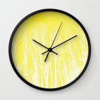 woodland Wall Clocks featuring woodland by  Agostino Lo Coco