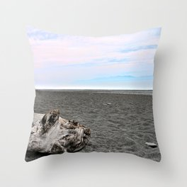 Black Sand Color Sky Throw Pillow