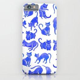 Cat Positions – Blue Palette iPhone Case