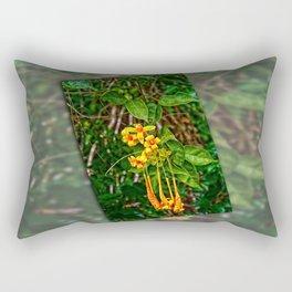 Beautiful orange trumpet flowers Rectangular Pillow
