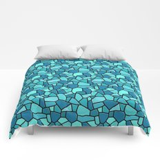 Stained Glass Blue Comforters