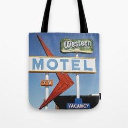 Western Motel Print Tote Bag
