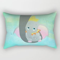 dumbo and his mom Rectangular Pillow