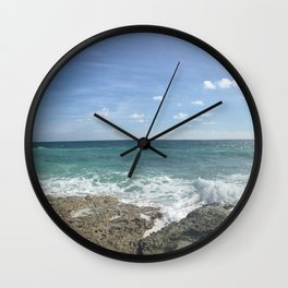 Cozumel Beach Wall Clock