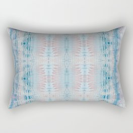 Faded Boho Style Abstract Design Rectangular Pillow