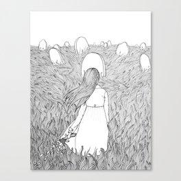 Goodbye Line Version Canvas Print