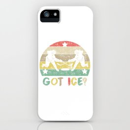 Got Ice? Love Hockey? This Shirt Is Perfect For You! T-shirt Design Ice Rink Puck Netminder Goal iPhone Case