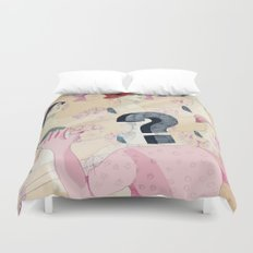 It's all in your head. Question series Duvet Cover