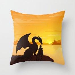 Dragon King Bakugo Landscape Throw Pillow