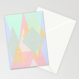 spring pastel abstract pattern design Stationery Cards