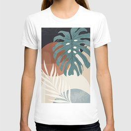 Abstract Art Tropical Leaves  T-shirt