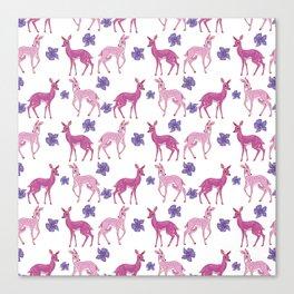 Pink Deer Pattern | Lesbian Pride Flag Canvas Print