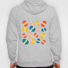 Multi Coloured Easter Eggs with Chicks - Yellow Orange Turquoise Pink Hoody